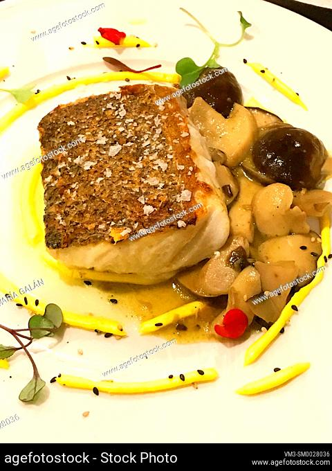 Hake loin with vegetables