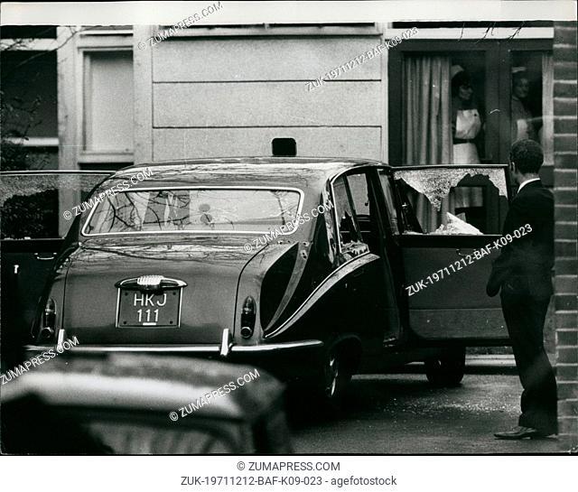 Dec. 12, 1971 - Assassination attempt on Jordanian Ambassador : An attempt was made to assassinate the Jordanian Ambassador in London, Mr