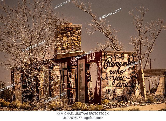 A dilapidated farm building on a farm in Northern Arizona