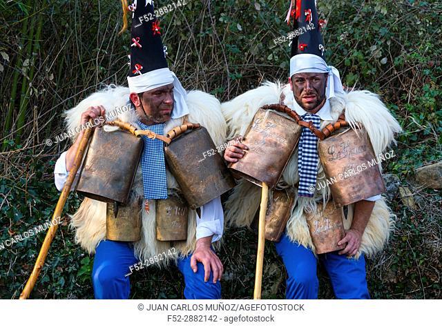 """""""""""""""""""""""La Vijanera"""""""" Carnival in Silio. Molledo Municipality, Cantabria, Spain, Europe"""