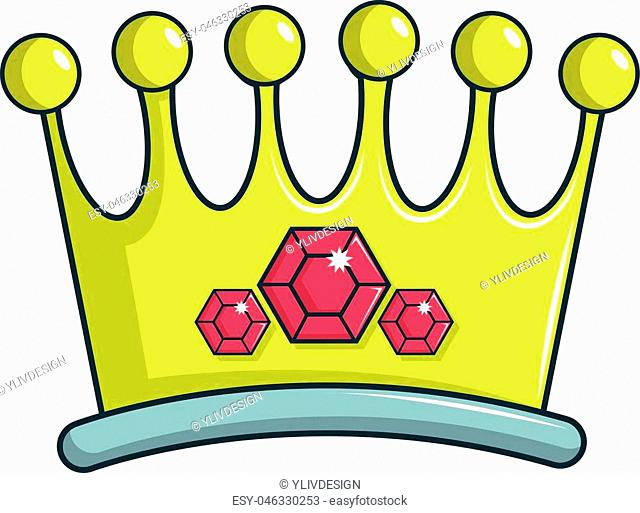 Lady crown icon. Cartoon illustration of lady crown vector icon for web design