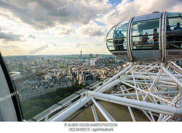 United Kingdom, England, London. London Eye