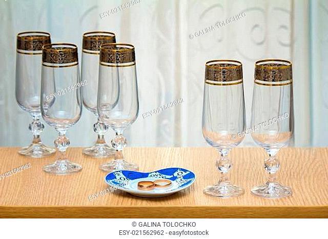 Six beautiful glass of the glass