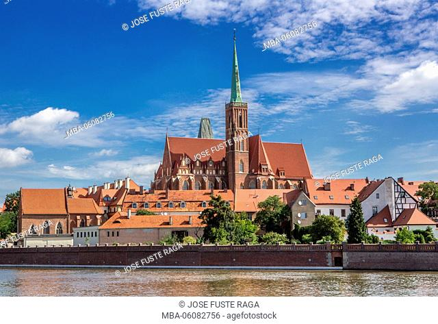Poland, Wroclaw City, Cathedral Island, Holly Cross Church
