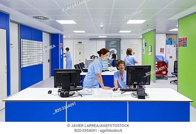 Nursing control, Delivery room, Maternity ward, Hospital Donostia, San Sebastian, Gipuzkoa, Basque Country, Spain