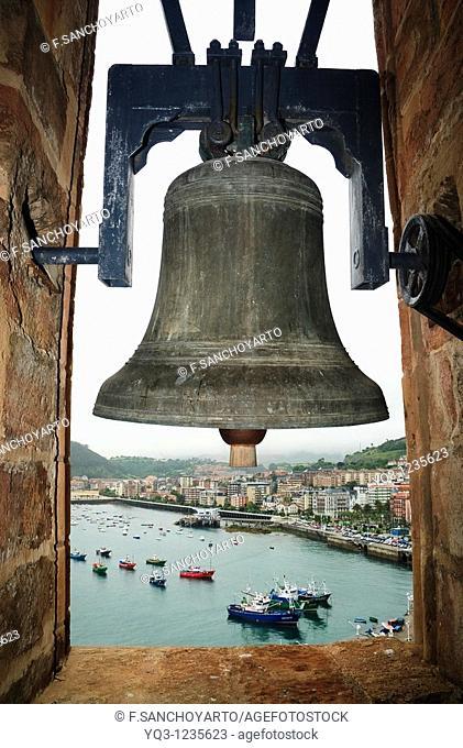 Bell fo the church of Santa Maria. Castro Urdiales, Cantabria, Spain