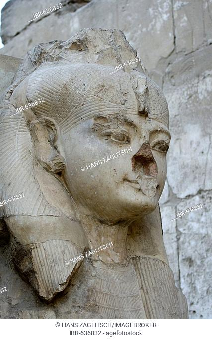 Ramses II, Great Court, Luxor Temple, Luxor, Nile Valley, Egypt, Africa