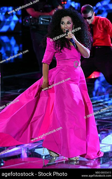 Italian singer of African American origins Deborah Johnson Deborah Johnson imitates Diana Ross during the fourth episode of the broadcast Tale e Quale show