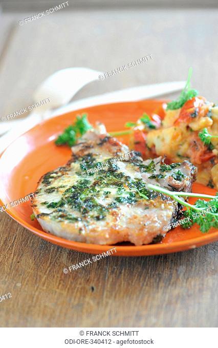 Pork chop with tomato
