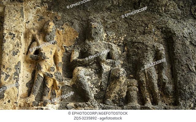 Ruined Buddha Figure Aurangabad caves, Aurangabad, Maharashtra