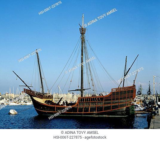 Spain. Barcelona. Saint Maria Floating Museum Ship