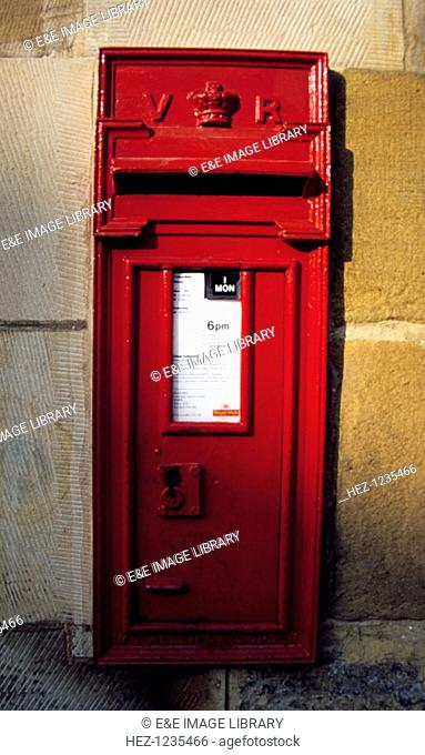 Queen Victoria post box, Pickering Station, North Yorkshire Moors Railway, North Yorkshire
