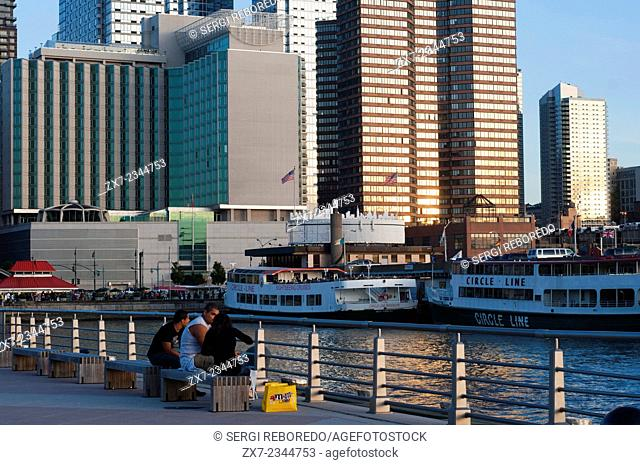 Lower Manhattan. The walk through the Brooklyn Bridge is well known, but not so much the Staten Island Ferry, a ferry to another island from New York