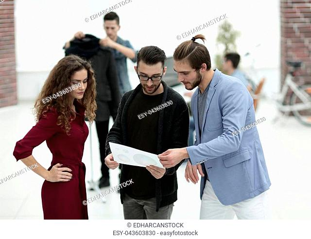 group of designer discussing the new models.photo with copy space