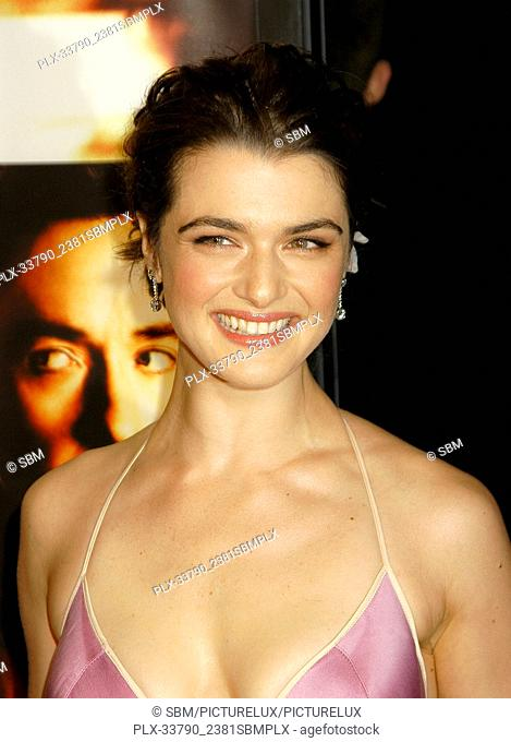 """Rachel Weisz at the """"""""Runaway Jury"""""""" World Premiere at the Pacific's Cinerama Dome Theater in Hollywood, CA. The event took place on Thursday, October 9, 2003"""