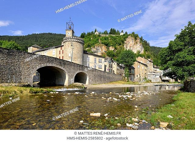 France, Lozere, the Causses and the Cevennes, Mediterranean agro pastoral cultural landscape, listed as World Heritage by UNESCO, Meyrueis, Gorges de la Jonte
