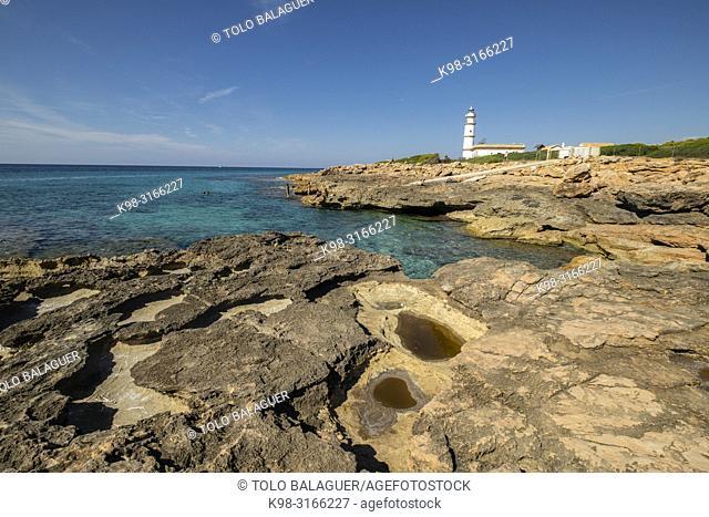 Faro de Cabo de las Salinas, Santanyí Mallorca, balearic islands, Spain
