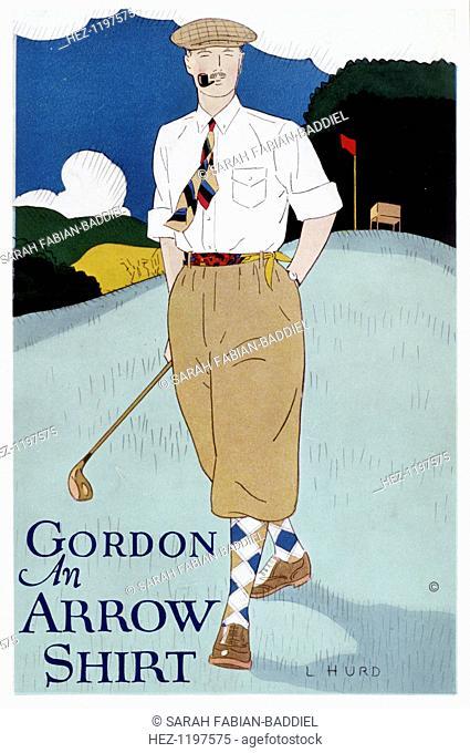Fashion print for Arrow Shirts, c1910