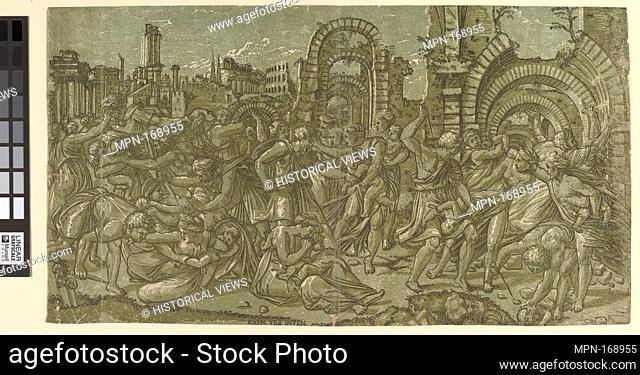 Massacre of the Innocents. Artist: Master ND (Italian, active 1540s); Artist: After Raphael (Raffaello Sanzio or Santi) (Italian