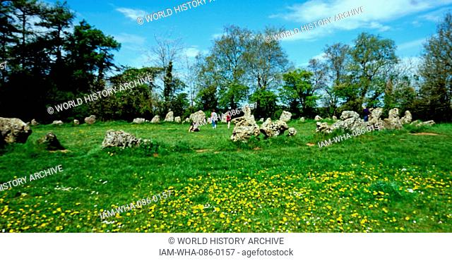The King's Men Stone Circle which is part of the Rollright Stones, a complex of three Neolithic and Bronze Age megalithic monuments in Long Compton, Oxfordshire