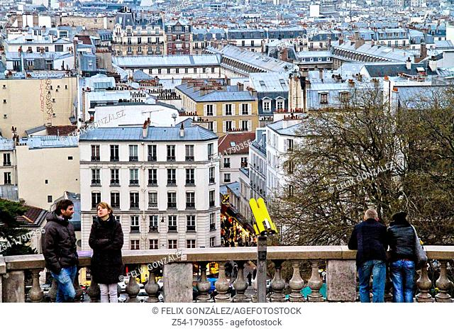 Panoramic from montmartre, Paris, France
