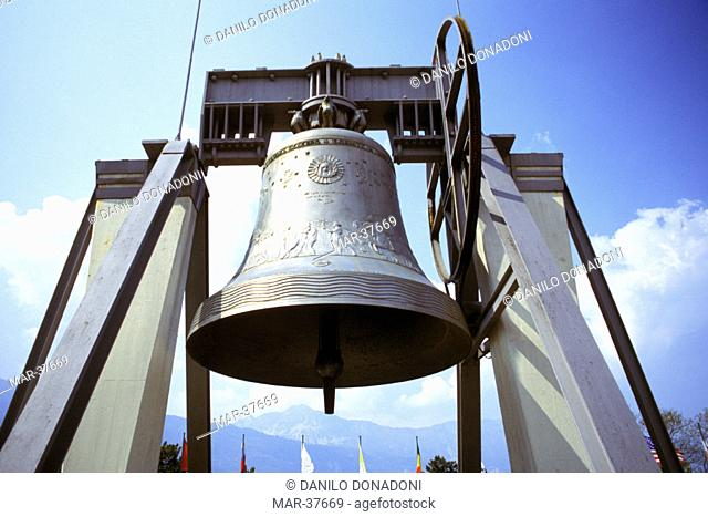 the bell of peace, rovereto, italy