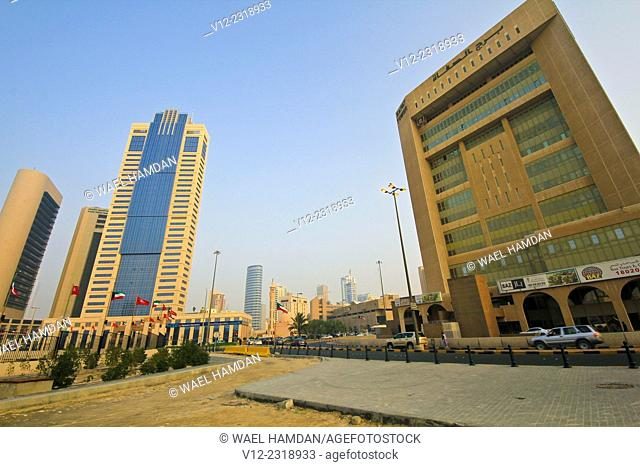 Modern High-Riser Building near the liberation tower, Safat Square, Kuwait City