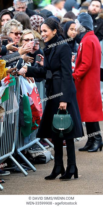 Prince Harry and Meghan Markle visit Cardiff Castle during their first visit to Wales together Featuring: Meghan Markle Where: Cardiff, Wales