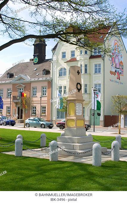 Rehau Upper Frankonia Bavaria Germany Maxplatz former city hall now doll museum
