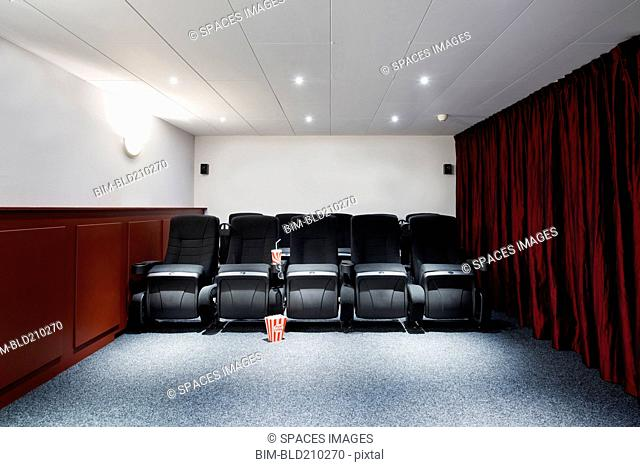Empty seats in home theater