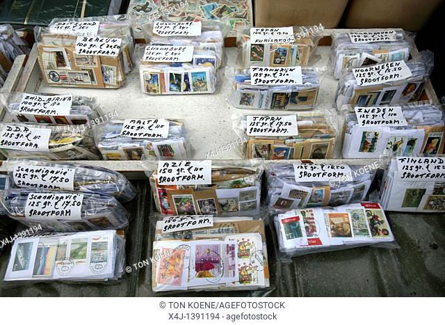 Stamps And Stamp Collectors In Holland Stock Photo Picture