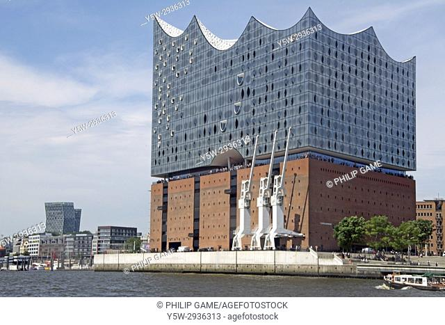 Elbphilharmonie concert hall on the Elbe waterfront in HafenCity, Hamburg, Germany