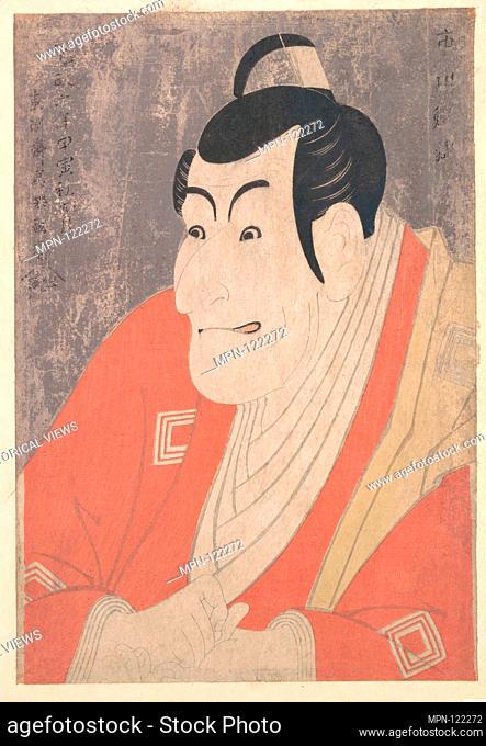 Ichikawa Ebizo IV as Takemura Sadanojo in the Play Koinyobo Somewake Tazuna. Artist: Toshusai Sharaku (Japanese, active 1794-95); Period: Edo period...