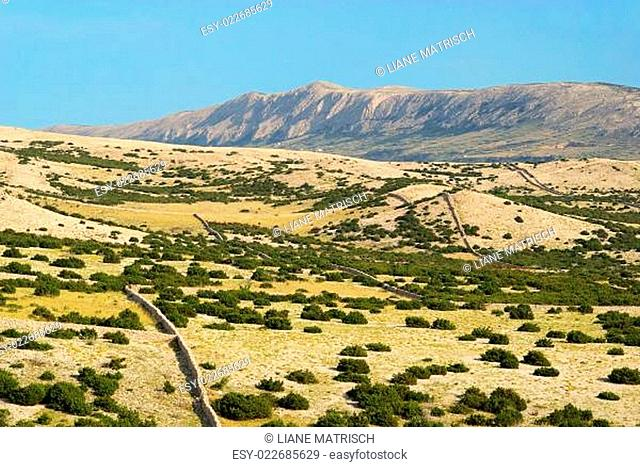 Pag Trockenmauern - Pag dry stone wall 02