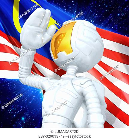 3D Cartoon Astronaut Concept And Presentation Figure