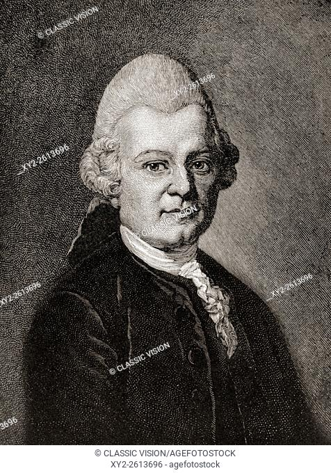 "Gotthold Ephraim Lessing, 1729 â. ""1781. German writer, philosopher, dramatist, publicist and art critic. From the play Emilia Galotti by Gotthold Ephraim..."