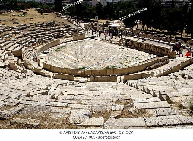 Ancient Theater of Dionysos Eleuthereus in Athens Greece