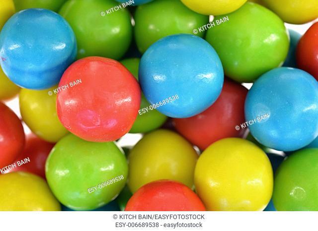 A close up shot of bubble gum