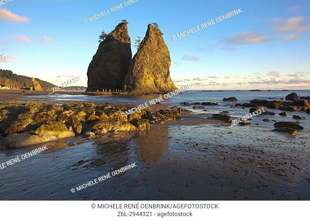 Rialto Beach Olympic National Park in Clallam County Seattle Washington