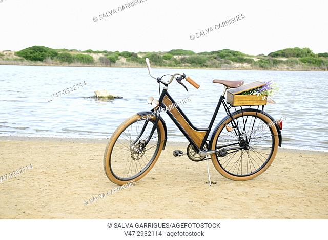 Classic bike in the Albufera of Valencia, Spain