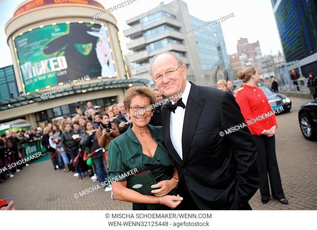 Premiere musical Wicked at AFAS Circustheater in Scheveningen. Featuring: Joop van den Ende, Janine van den Ende Where: Scheveningen