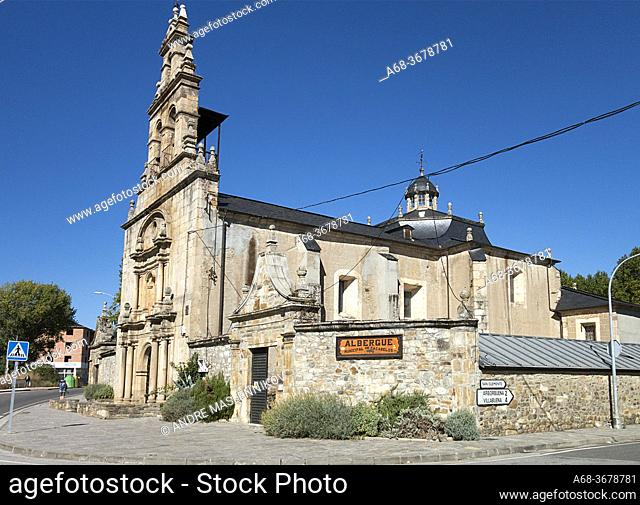 Santuario de Quinta Angustia, Calabelos, Spain. Walking the Camino. Pilgrimage route to Santiago de Compostela. The Camino French Way traditionally starts in St