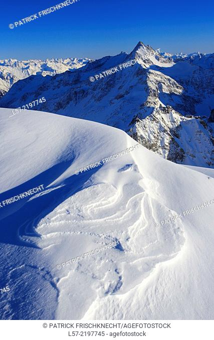 Fleckistock as seen from Titlis, Swiss Alps