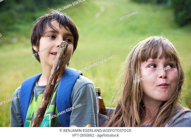 hiking adventure of siblings