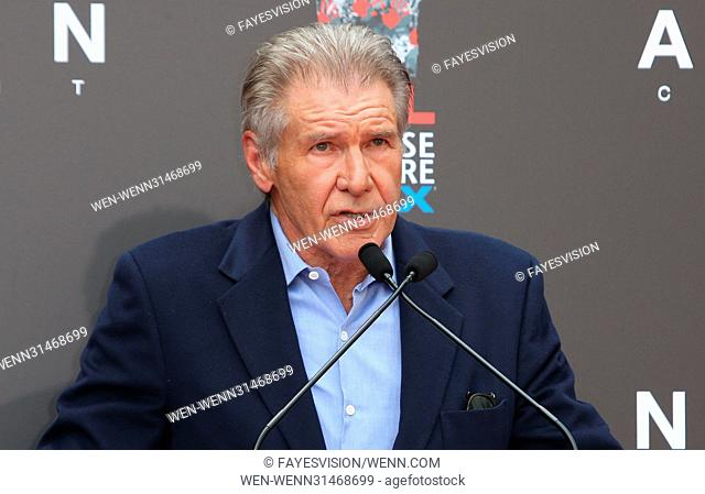 Sir Ridley Scott Hand and Footprint Ceremony Featuring: Harrison Ford Where: Hollywood, California, United States When: 18 May 2017 Credit: FayesVision/WENN
