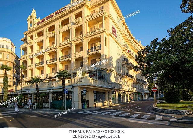 Hotel Palace is a unique gem in the history of tourism in Opatija. Surrounded by the picturesque streets in the centre of Opatija