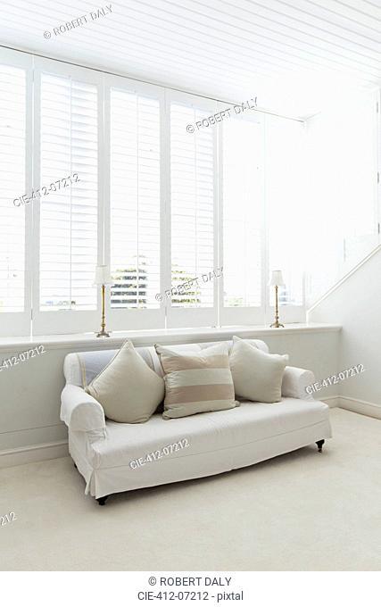 Sofa in white living room