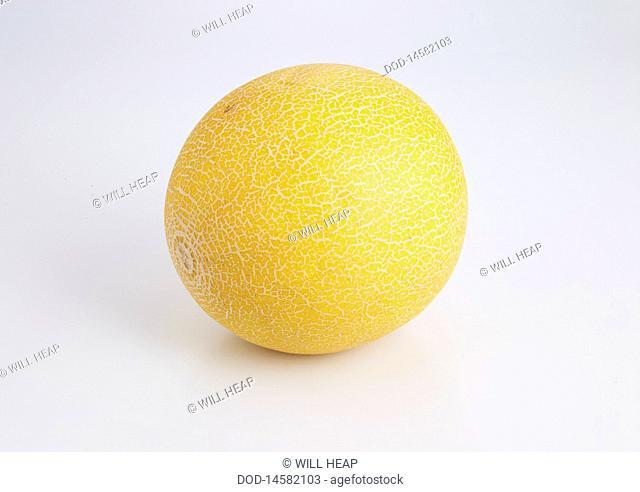 Galia Melon on white background
