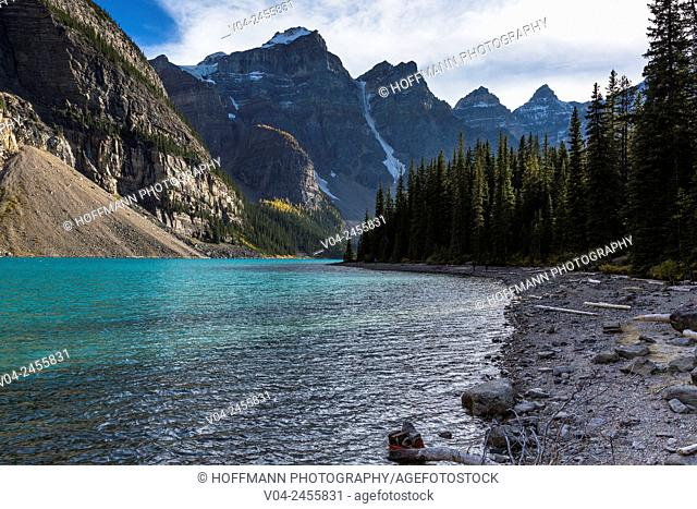 Moraine Lake and Valley of the Ten Peaks in the Banff National Park, Alberta, Canada