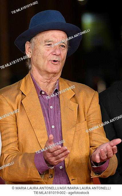 Bill Murray during the red carpet of film Motherless Brooklyn at the 14th Rome Film Festival, Rome, ITALY-17-10-2019